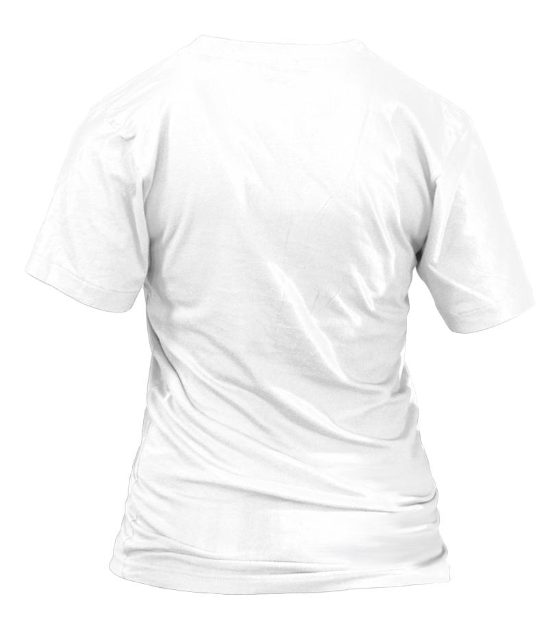 T-shirt Col V Femme Personnalisé verso