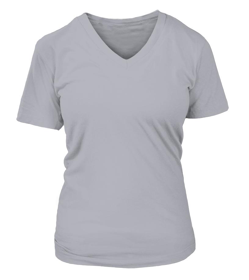 Personalisiertes V-Ausschnitt Frauen T-Shirt Vorderseite