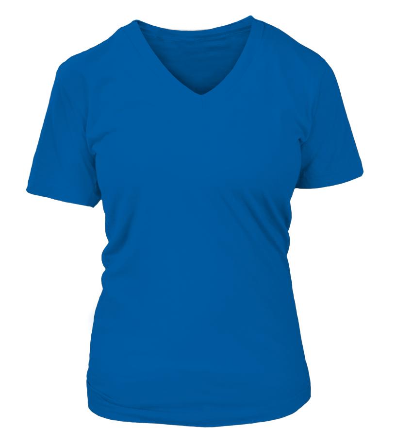 T-shirt Col V Femme Personnalisé recto